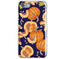 Pumpkin night life pattern iPhone Case/Skin