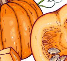 Pumpkin night life pattern Sticker