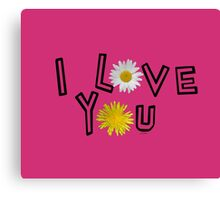 I love you in pink yarrow Canvas Print