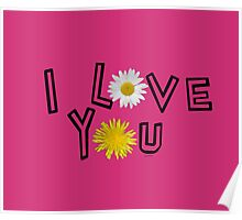 I love you in pink yarrow Poster