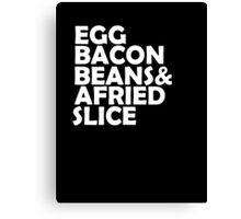 Egg Bacon beans Canvas Print