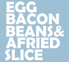 Egg Bacon beans One Piece - Short Sleeve