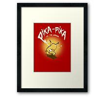 Pika-Pika VS. The League Framed Print