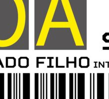 Destination Porto Alegre Airport Sticker