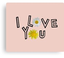 I love you in pale dogwood Canvas Print