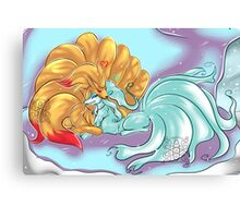 Ice and Fire Ninetails Canvas Print