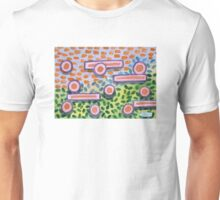 Bars and Dots on a Lawn Unisex T-Shirt