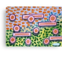 Bars and Dots on a Lawn Canvas Print
