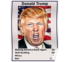 Donald Trump Top Trumps USA President Candidate Card 2016 Poster