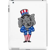 Republican Elephant Mascot Arms Crossed Standing Cartoon iPad Case/Skin