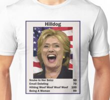 Hilary Hilldog Clinton Top Trumps USA President Candidate Card 2016 Unisex T-Shirt
