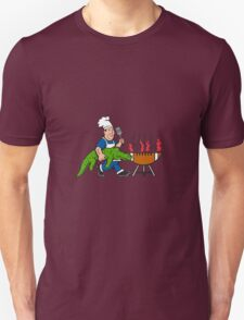 Chef Alligator Spatula BBQ Grill Cartoon Unisex T-Shirt
