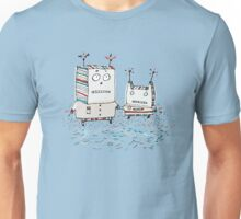 Robots at the Beach  Unisex T-Shirt