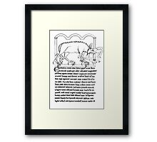 Medieval Bestiary monster Framed Print