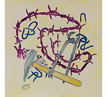 Stillife with barbed wire Photographic Print