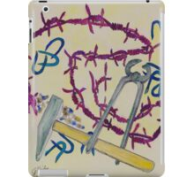 Stillife with barbed wire iPad Case/Skin
