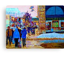 PAINTING OF OGILVY'S STORE DOWNTOWN MONTREAL Canvas Print