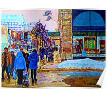 PAINTING OF OGILVY'S STORE DOWNTOWN MONTREAL Poster