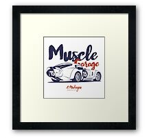 Muscle garage. Shelby Cobra Daytona Framed Print