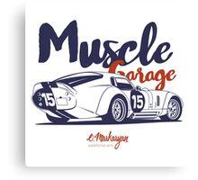 Muscle garage. Shelby Cobra Daytona Canvas Print