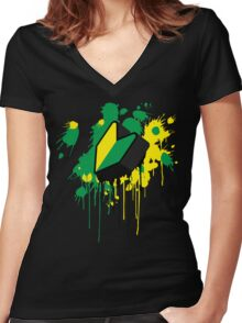 Wakaba 3D Women's Fitted V-Neck T-Shirt