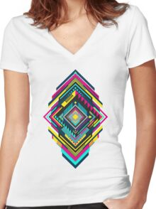The 1980s Women's Fitted V-Neck T-Shirt