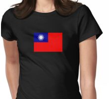 Taiwan Taipei Flag - Republic of China ROC T-Shirt Womens Fitted T-Shirt