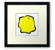 unusual mystical yellow porthole Framed Print