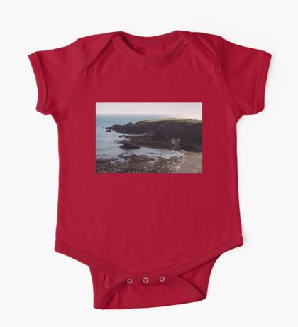 Rough Coast - Morning Light on a Sea Cliff in Scotland One Piece - Short Sleeve