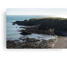Rough Coast - Morning Light on a Sea Cliff in Scotland Canvas Print