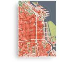 Buenos Aires city map classic Canvas Print