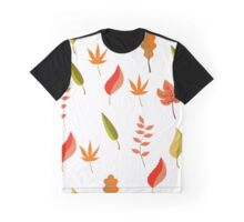 pattern of different autumn leaves Graphic T-Shirt