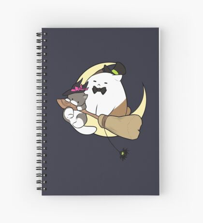 Spoopy Kittens Night Ride Spiral Notebook