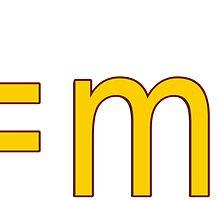 E=MC2 Sticker by deanworld