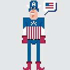 Pixel Captain America by Sergey Vozika