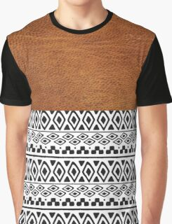 leather and ethnic Graphic T-Shirt