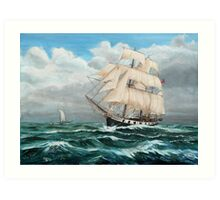 HMS Beagle, Darwin's Ship 1831/6 Art Print