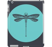 Dragonfly made of Beetles, Ants and Sycamore seed pods iPad Case/Skin