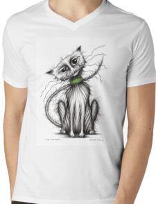 Mr Whiskers Mens V-Neck T-Shirt