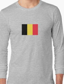 Belgium Flag - Belgian Brussels T-Shirt Sticker Duvet Long Sleeve T-Shirt