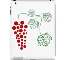 ripe grapes on a branch with large leaves iPad Case/Skin