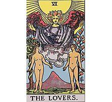Tarot Card : The lovers Photographic Print