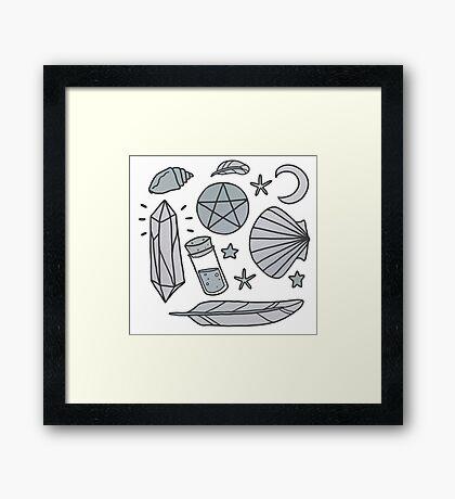 Sea Witch - grey Framed Print