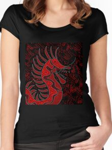 Red dragon  Women's Fitted Scoop T-Shirt