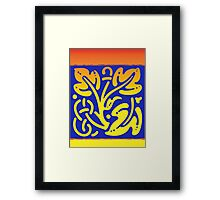Colorful leaves modern design Framed Print