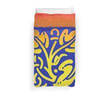 Colorful leaves modern design Duvet Cover