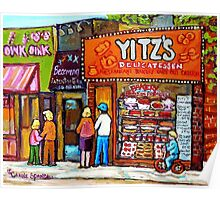 YITZ'S DELICATESSEN TORONTO PAINTINGS Poster