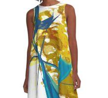 20160929 orange blue oblivion no. 7 A-Line Dress