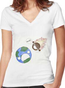 Hugs for Earth Women's Fitted V-Neck T-Shirt