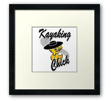 Kayaking Chick #4 Framed Print